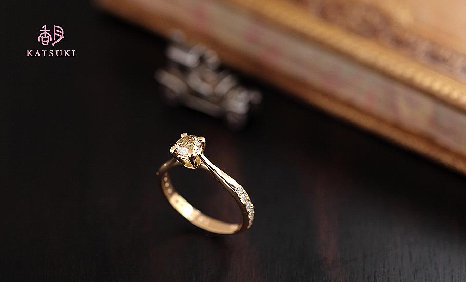 イエローダイヤモンドが煌めくサプライズのフルオーダー