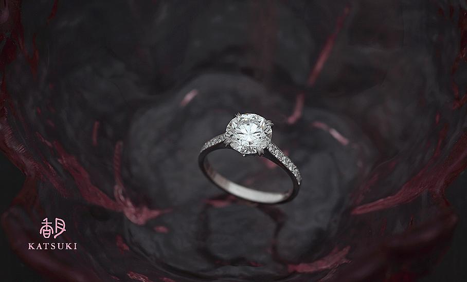 1.508ctのダイヤモンドが煌めくフルオーダーリング