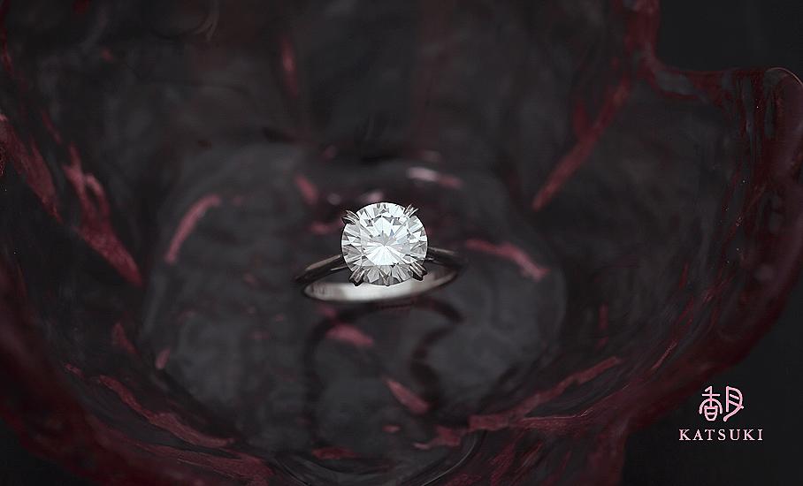 1.791ctのダイヤモンドが眩しいフルオーダー
