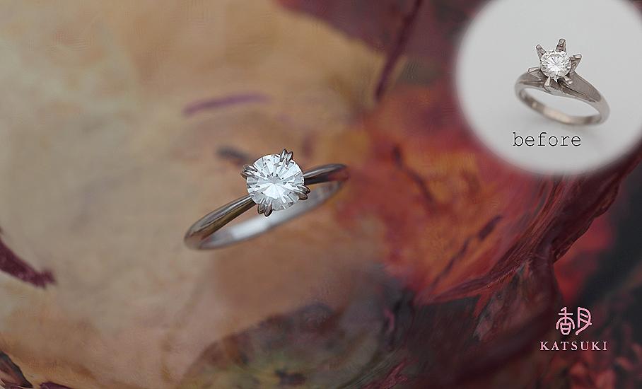 リフォームジュエリー 0.566ctダイヤモンド