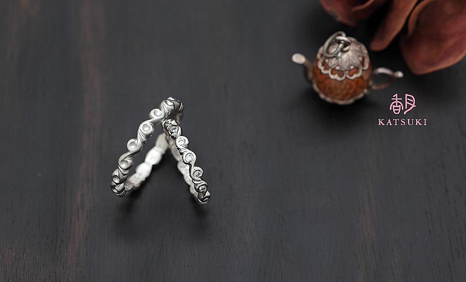 """オリジナル結婚指輪 """"ベルガモット""""  ¥77.400-/税別~   ◆シルバー制作可:¥15.000/税別~"""