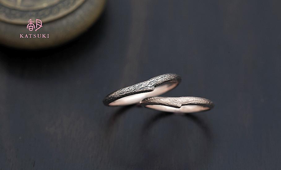 """オリジナル結婚指輪 """"マロニエ・プティ""""  ¥74.200-/税別~   ◆シルバー制作可:¥15.000/税別~"""