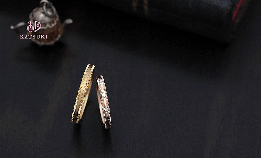 """オリジナル結婚指輪 """"ピュルテ""""  ¥79.500-/税別~   ◆シルバー制作可:¥18.500/税別~"""