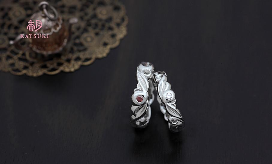 """オリジナル結婚指輪 """"レーヴ""""  ¥87.900-/税別~   ◆シルバー制作可:¥18.500/税別~"""
