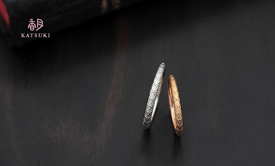 """オリジナル結婚指輪 """"クロンヌ""""  ¥73.500-/税別~   ◆シルバー制作可:¥18.500/税別~"""