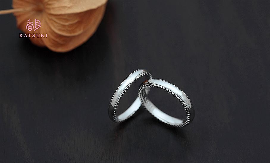 """オリジナル結婚指輪 """"アン・ラポール&ラポール"""" ¥79.500-/税別~   ◆シルバー制作可:¥18.500/税別~"""