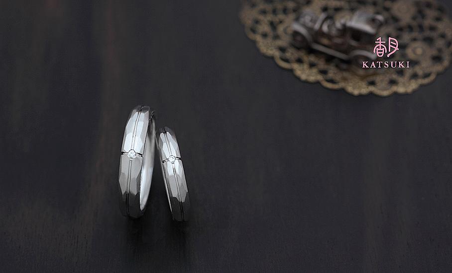"""オリジナル結婚指輪 """"シャルール""""  ¥88.700-/税別~   ◆シルバー制作可:¥18.500/税別~"""