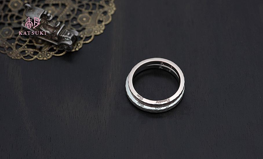 """オリジナル結婚指輪 """"ソワン"""" ¥89.000-/税別~   ◆シルバー制作可:¥20.500/税別~"""