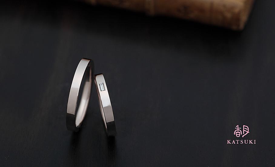 バケットダイヤモンドにこだわったフルオーダー結婚指輪