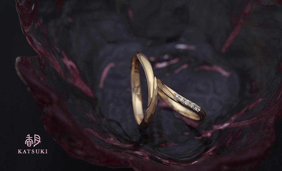 """オリジナル結婚指輪 """"メテオール&メテオール・ブリレ""""  ¥74.200-/税別~   ◆シルバー制作可:¥15.000/税別~"""