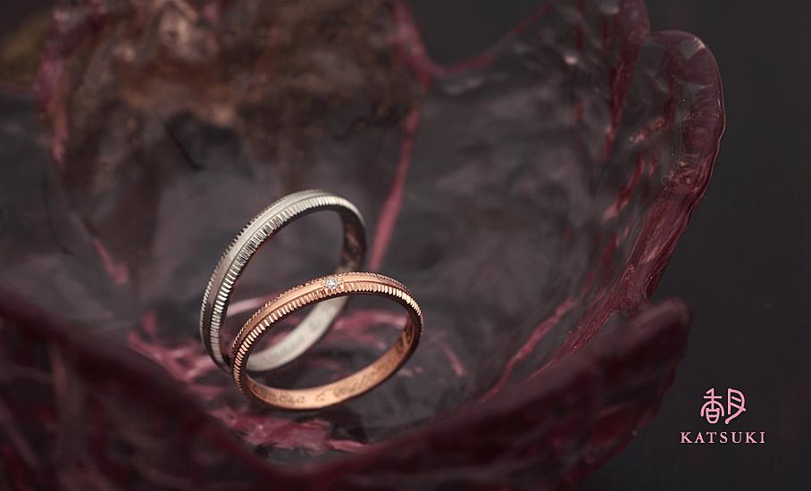 """オリジナル結婚指輪 """"ピュルテ""""  ¥80.400-/税別~   ◆シルバー制作可:¥20.000/税別~"""