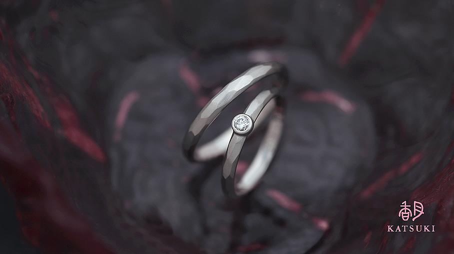 お母様の指輪をリメイクして仕上がったフルオーダー結婚指輪