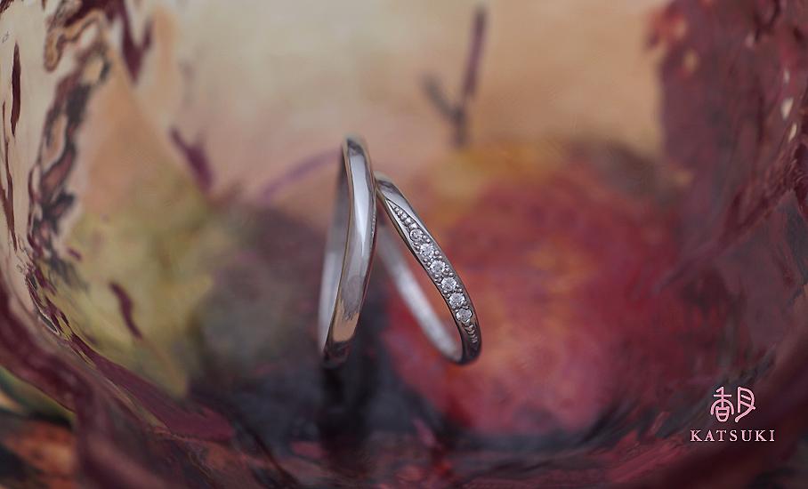 """オリジナル結婚指輪 """"ヘスティア""""  ¥73.600-/税別~   ◆シルバー制作可:¥16.500/税別~"""