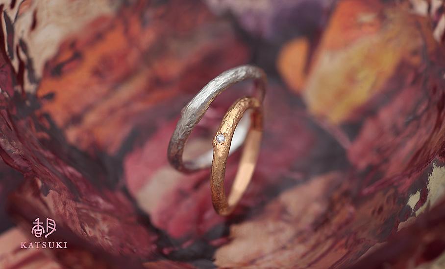"""オリジナル結婚指輪 """"マロニエ""""  ¥82.700-/税別~   ◆シルバー制作可:¥16.000/税別~"""