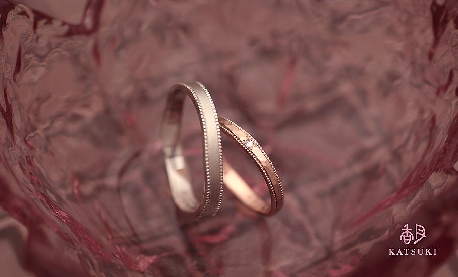 """オリジナル結婚指輪 """"ルーナ&リュンヌ""""  ¥79.500-/税別~   ◆シルバー制作可:¥18.500/税別~"""
