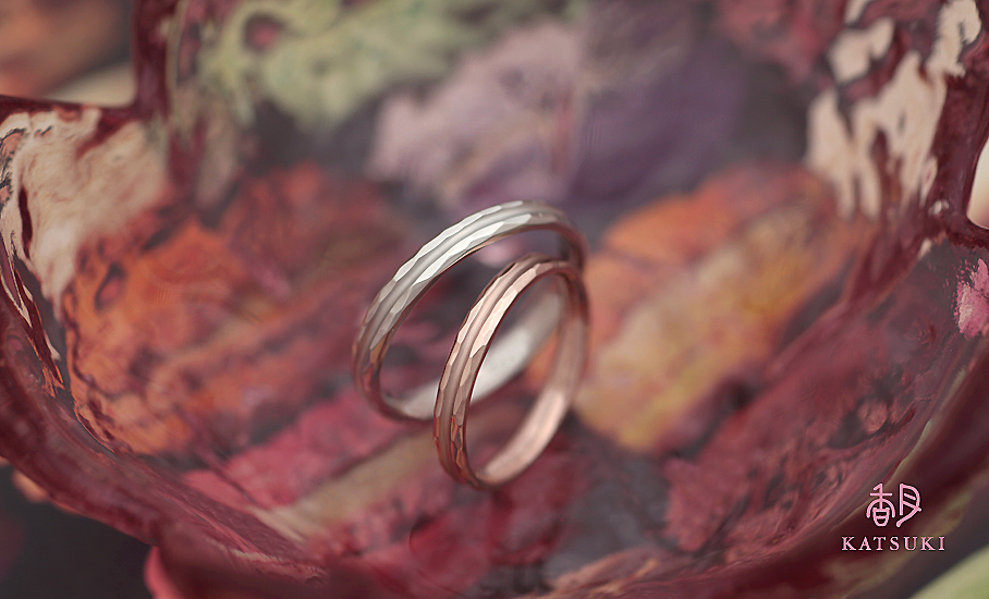 """オリジナル結婚指輪 """"ストラスブール""""  ¥76.000-/税別~   ◆シルバー制作可:¥16.500/税別~"""