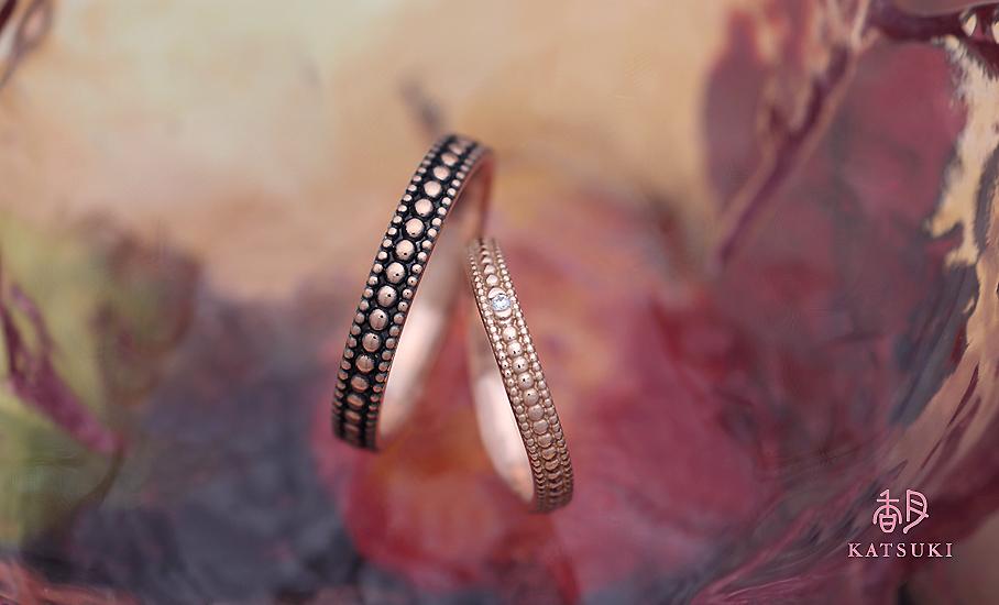 """オリジナル結婚指輪 """"アンテリネ"""" ¥80.500-/税別~   ◆シルバー制作可:¥18.500/税別~"""