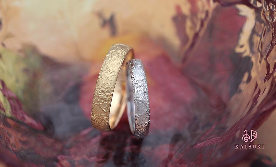 """オリジナル結婚指輪 """"ヌーヴェル"""" ¥95.500-/税別~   ◆シルバー制作可:¥19.500/税別~"""