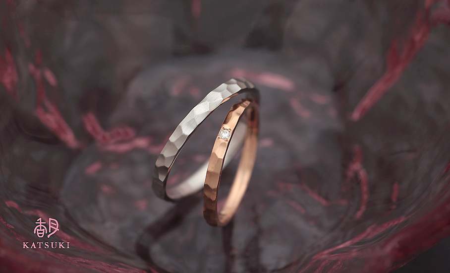 """オリジナル結婚指輪 """"エタンセル""""  ¥75.700-/税別~   ◆シルバー制作可:¥15.000/税別~"""
