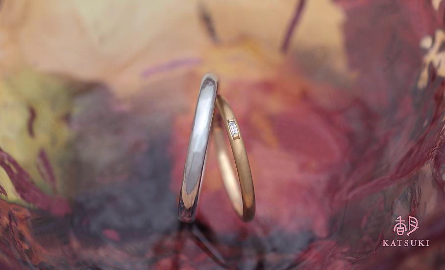 """オリジナル結婚指輪 """"ボーテ""""  ¥76.500-/税別~   ◆シルバー制作可:¥16.500/税別~"""