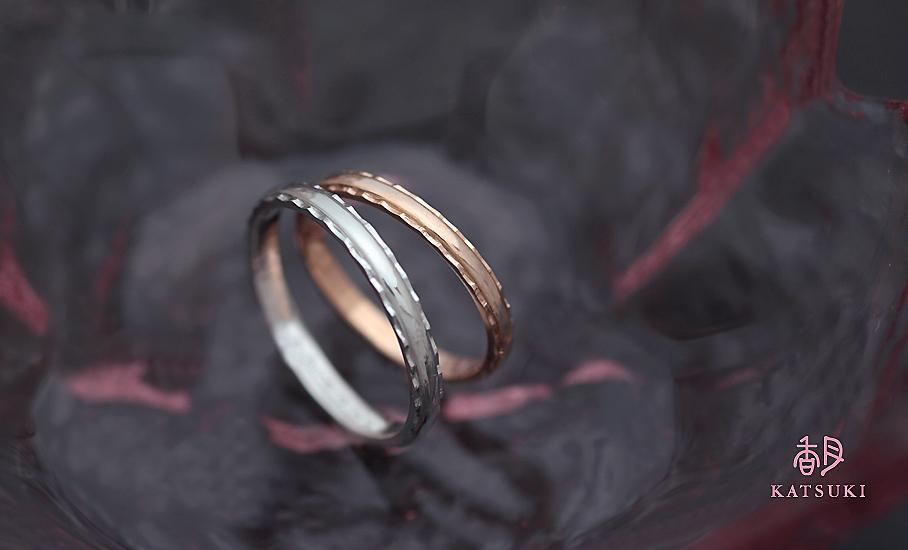 """オリジナル結婚指輪 """"サンティエ"""" ¥73.900-/税別~   ◆シルバー制作可:¥18.500/税別~"""