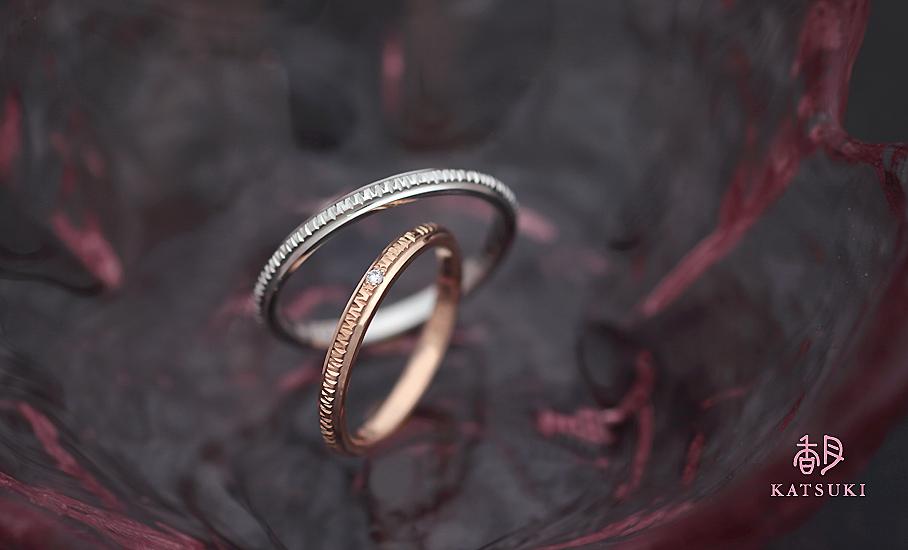 """オリジナル結婚指輪 """"エマーブル""""  ¥77.800-/税別~   ◆シルバー制作可:¥18.500/税別~"""