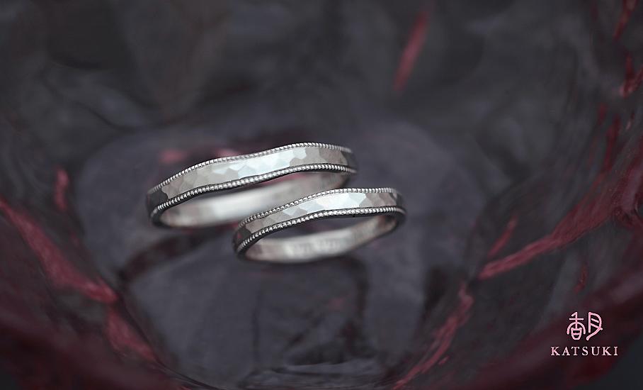"""オリジナル結婚指輪 """"リュンヌ""""  ¥79.500-/税別~   ◆シルバー制作可:¥18.500/税別~"""