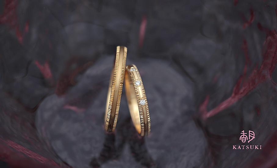 """オリジナル結婚指輪 """"ピュルテ""""  ¥79.500-/税別~   ◆シルバー制作可:¥19.500/税別~"""