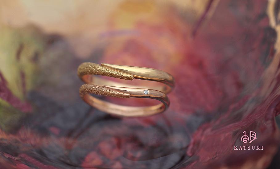"""オリジナル結婚指輪 """"アン・カラン""""  ¥76.000-/税別~   ◆シルバー制作可:¥17.500/税別~"""