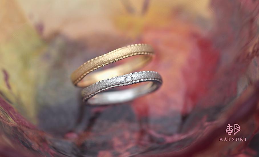 """オリジナル結婚指輪 """"パルフェ"""" ¥80.500-/税別~   ◆シルバー制作可:¥18.500/税別~"""