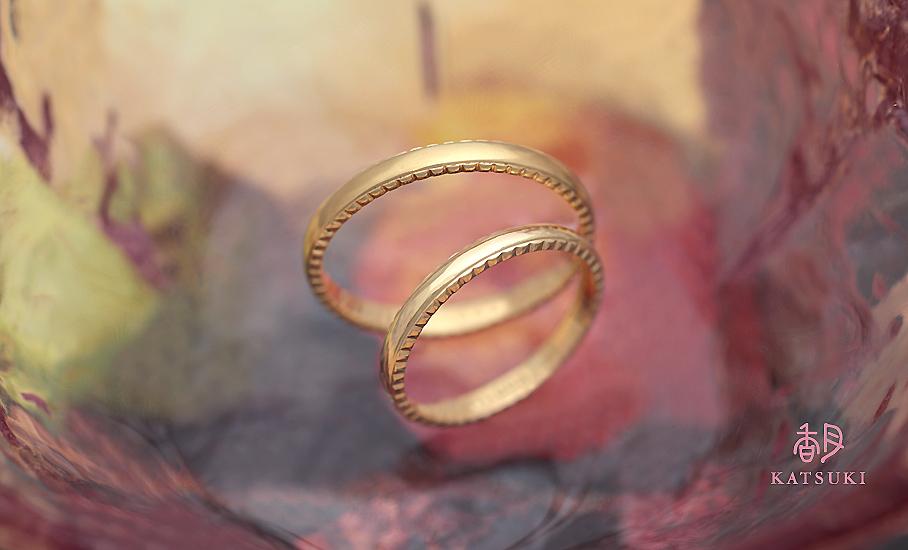"""オリジナル結婚指輪 """"アンー・ラポール"""" ¥79.500-/税別~   ◆シルバー制作可:¥18.500/税別~"""