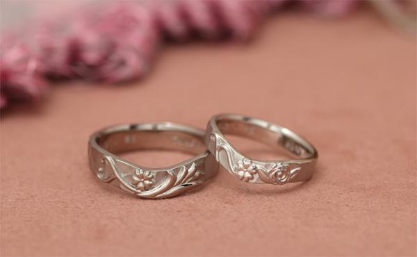 花束の結婚指輪