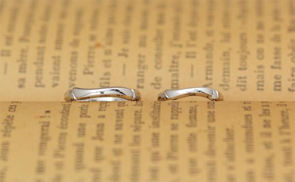 和テイストの結婚指輪