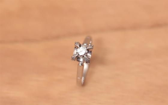指輪をブレスレットにリフォーム