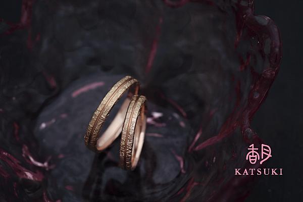新しい技法を施した結婚指輪新作☆ピンクゴールド