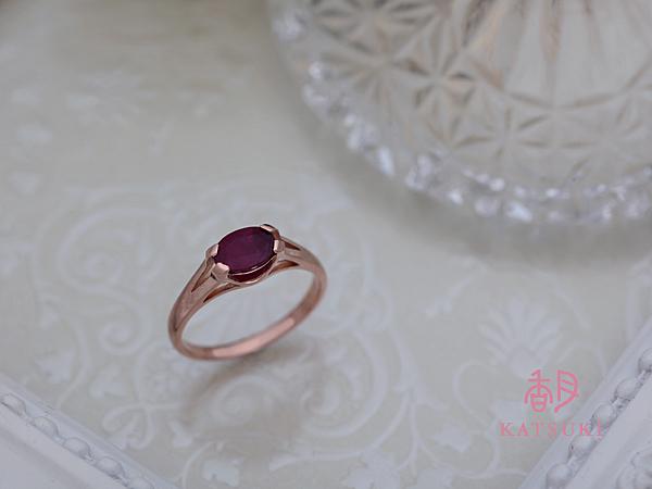 お母様からのルビーのプレゼントを指輪に☆ピンクゴールド