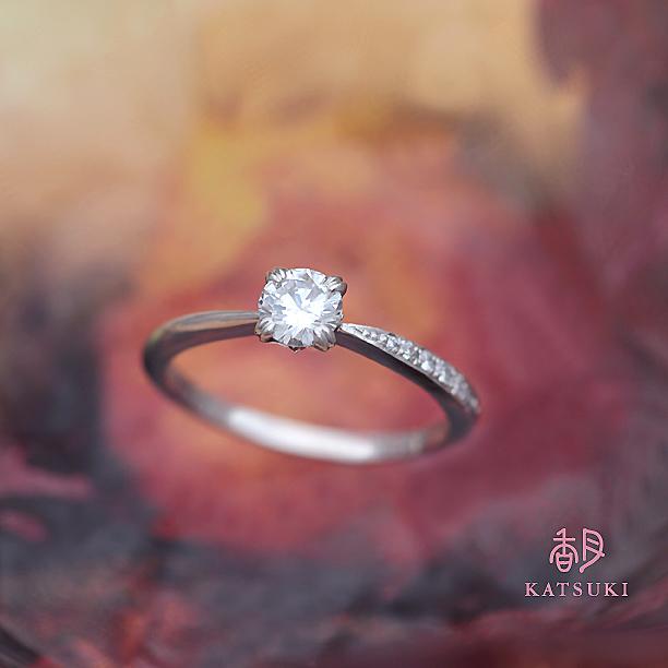 おふたりのこだわりの詰まった婚約指輪