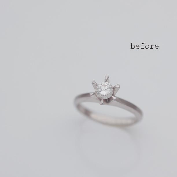 立爪の指輪のリフォーム(リメイク)