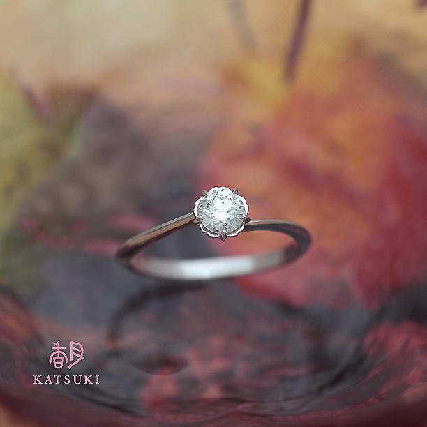 プラチナSラインの婚約指輪