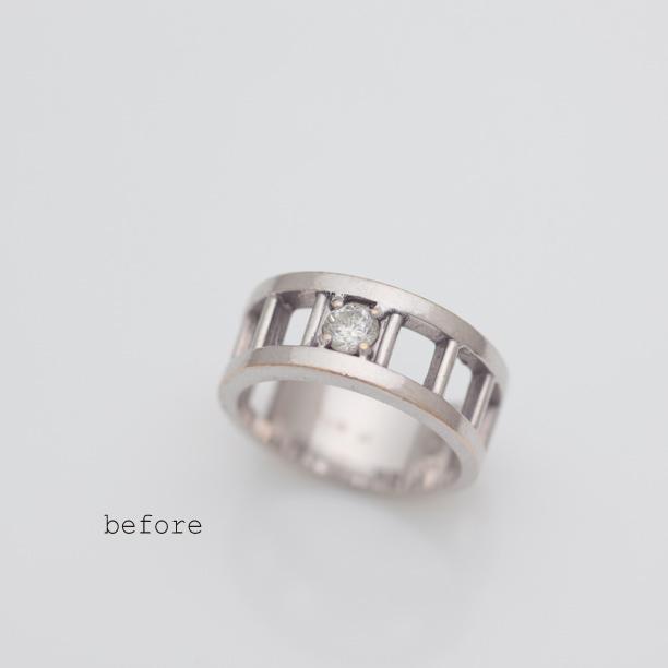 ご愛用の指輪から婚約指輪へのリフォーム(リメイク)