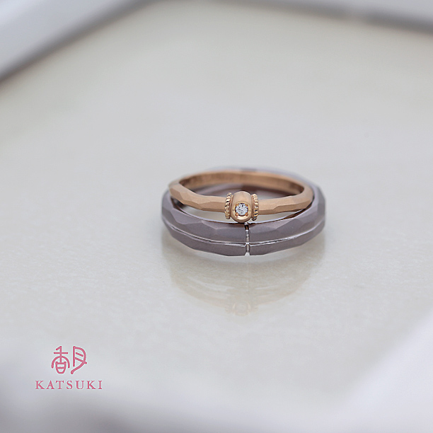 つや消しマット仕上げが味わい深い結婚指輪