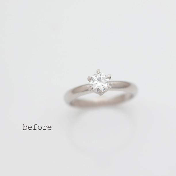 立爪婚約指輪のリフォーム(リメイク)