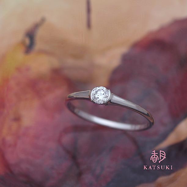 0.155ctのダイヤモンドが輝くエンゲージリング