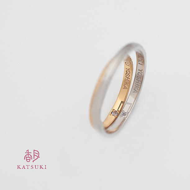 内側で誕生石が音を奏でる結婚指輪