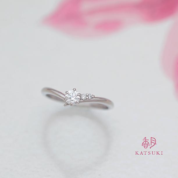 Vラインの婚約指輪