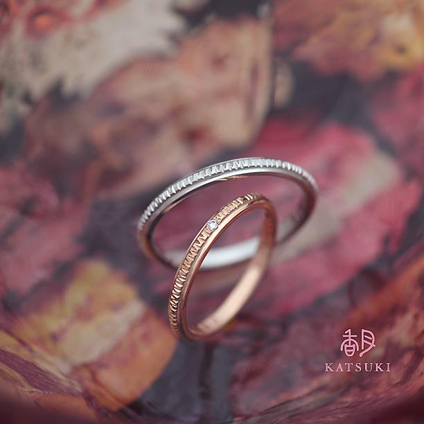 職人の鏨が輝きを灯す結婚指輪