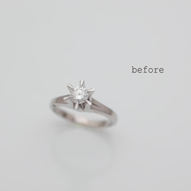 ご両親の婚約指輪をおふたりの婚約指輪へリフォーム