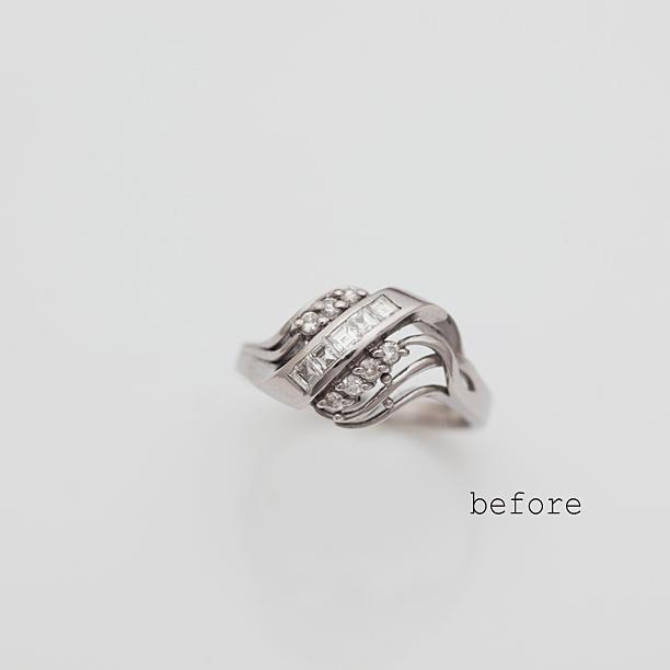 譲り受けられた指輪のリフォーム(リメイク)