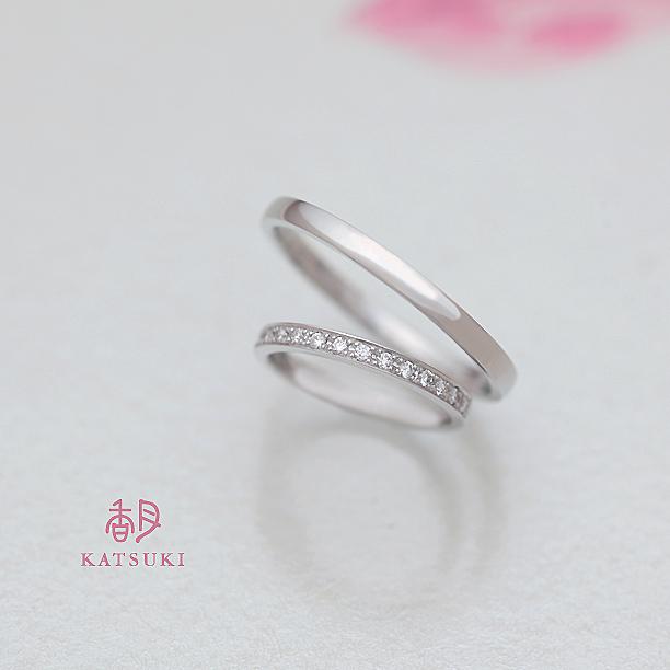 24号とハーフエタニティ6号の結婚指輪