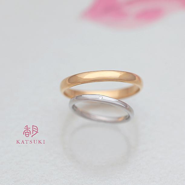 「何も足さない」シンプルな結婚指輪